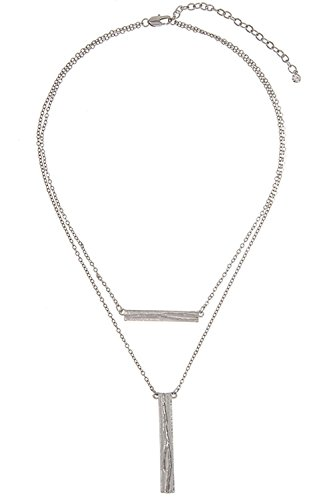 glitz-finery-double-sided-flat-finish-detailed-pendant-necklace-rhodium