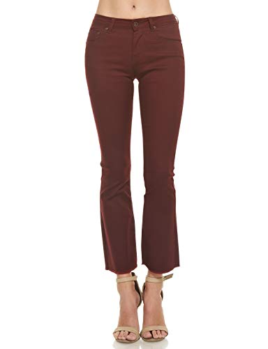 Red Monkey Jeans - Monkey Ride Jeans Women's Retro Regular Fit Modern Stretch Bootcut Jeans 1, Wine