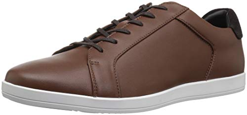 Calvin Klein Men's Maine Smooth Lthr/Calf Suede Sneaker, New Tan, 9.5 M M US