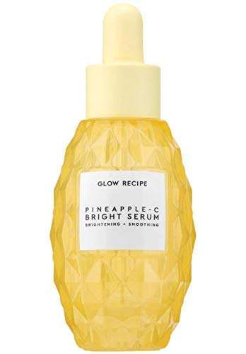 Glow Recipe Pineapple-C Brightening Serum 1 Fl. Oz! Vitamin C And AHA Serum with Pineapple Juice and Hyaluronic Acid! Brightens, Smoothen And Hydrates Skin! Vegan, Cruelty-Free, And Gluten-Free! ()