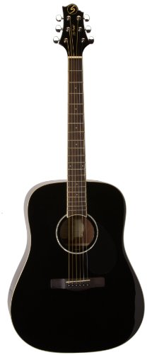 Greg Bennett Design Regency D2 Blk Dreadnought Acoustic Guitar, Black by Greg Bennett Design