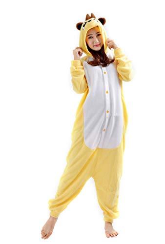 Kigurumi Unisex Adulti Pigiama Animale Cosplay Halloween Carnevale Costume Mangusta Mangusta