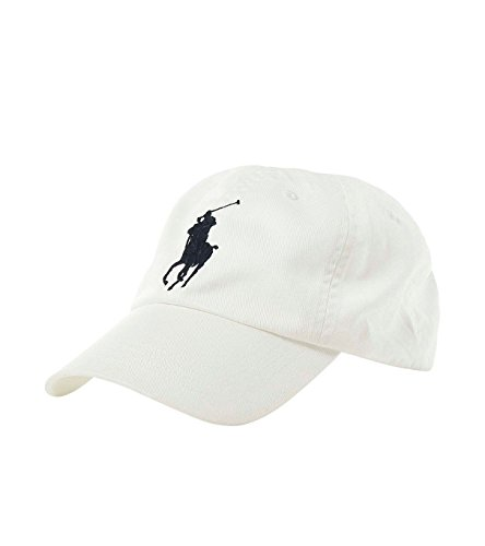 Polo Ralph Lauren Mens Big Pony Hat (Oz, White)