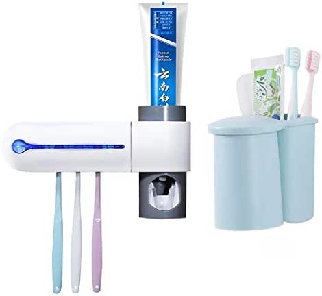 LEZDPP Toothbrush Sterilizer UV-Free Punching Toilet Wall Suction Electric Toothbrush Rack Automatic Squeeze Toothpaste
