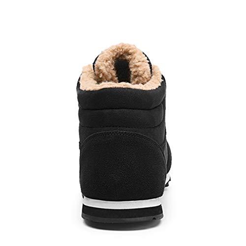 Boots Stivaletti Scarpe Wetrics Da Pelliccia Piatto Caloroso Allineato Uomo Caviglia Stivali Nero Sportive Neve Invernali qqOfWwRSBx