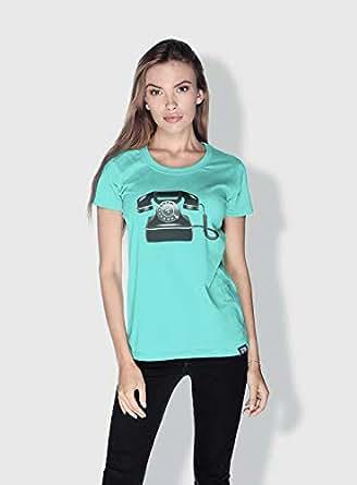 Creo Phone Retro T-Shirts For Women - M, Green