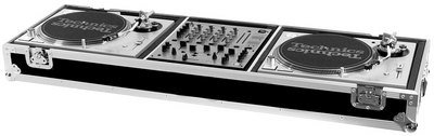 (Road Ready RRDJMW Coffin for 2 Turntables/12-Inch Mixer)