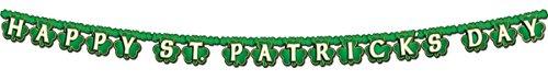 Morris Happy St. Patrick's Day Shamrock Streamer Party Accessory ()