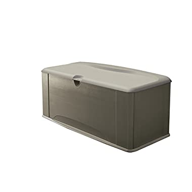 Rubbermaid Deck Box with Seat, Extra Large, 120 Gal., 16 cu. ft., Olive Steel (5E39)