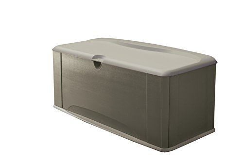 Rubbermaid Deck Box with Seat, Extra Large, 120 Gal, 16 cu. ft, Olive Steel (2047052)