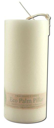 ALOHA BAY Candle Pillar Unscented Eco White