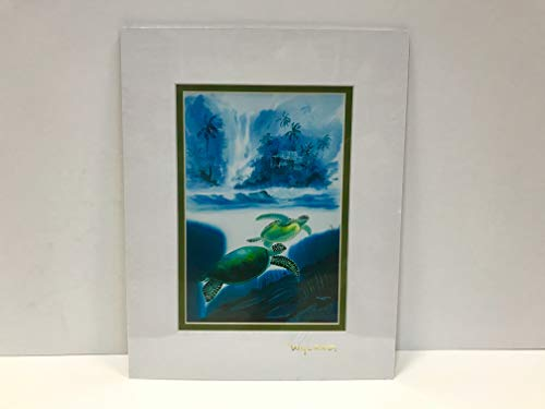 (by Wyland & James Coleman Double Matted with Gold Foil Stamp (Turtle) Ready to Frame: 11