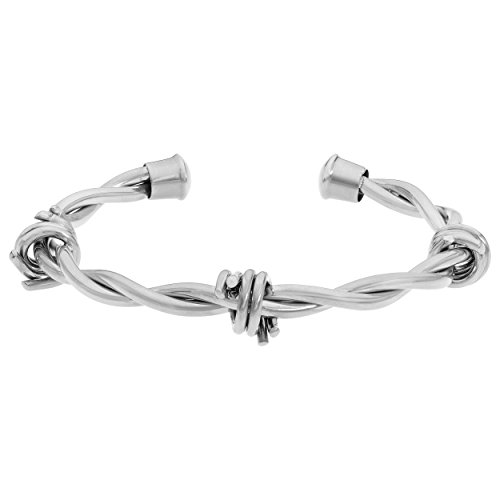 Metro Jewelry Stainless Steel Barbed Wire Bangle ()