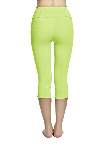 Lotsyle Women's Running Tight Yoga Fitness Leggings Stretch Training Trousers Pants Green-S