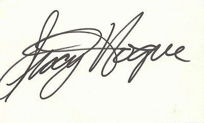 Stacy Hogue Signed 3x5 Table of contents Card Freaks & Geeks