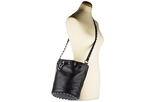 Alexander Wang borsa donna a spalla shopping in pelle nuova secchiello nero