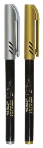 Franmara Wine Bottle Pen Markers - 2 per Pack (Wine Glass Writing Pens)