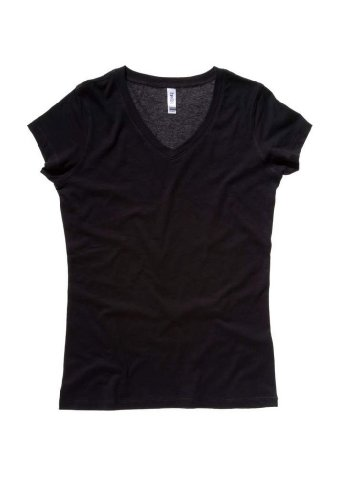 Bella Womens V-Neck T-Shirt in LG in b-BLACK