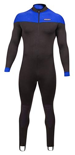 (Henderson Polyolefin Jumpsuit with Spine Pad Unisex - Black/Blue - Small)