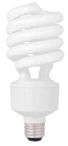 - TCP 1822741K CFL Spring Lamp - 100 Watt Equivalent (only 27W used!) Bright White (4100K) HPF Spiral Light Bulb