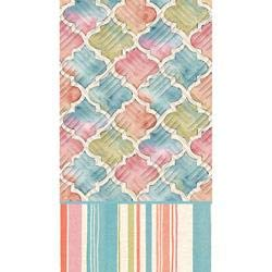 Cypress Home Watercolor Floral Embossed Paper Guest Towel, 15 count