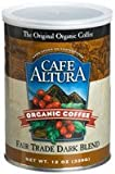 Cafe Altura Organic Coffee, Fair Trade Dark Blend, Ground Coffee, 12 Ounce Can (Case of 6)