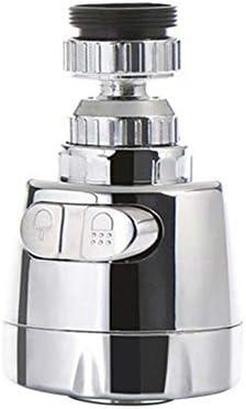 Kuuky 革新的な蛇口ステンレス鋼防滴ユニバーサルタップシャワー水回転フィルタースプレーノズル