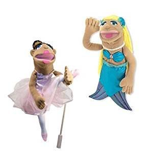 Melissa & Doug Puppet Pack - Ballerina Puppet & Mermaid - Puppet Ballerina Doug