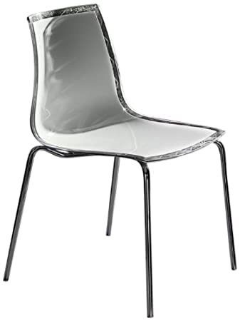Lookboard 173059 Leyla 2 Tone Polycarbonate Chair, Set Of 2