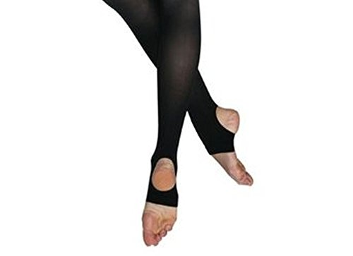 Stirrup Dance Tights (Bloch Women's Stirrup Tights, Black-D)
