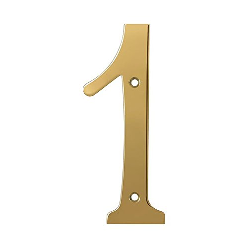 Deltana RN6-1 Solid Brass 6-Inch House Number 1 Board