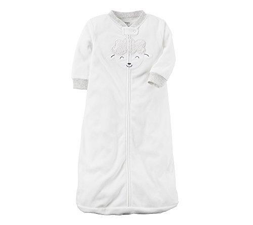 Carter's Baby Microfleece Sleep Bag, White, Medium