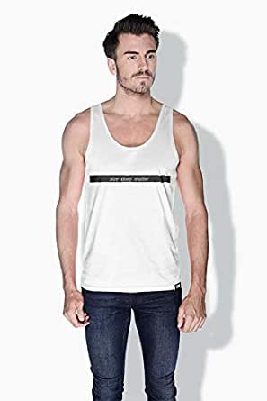 Creo Size Does Matter Funny Tanks Tops For Men - S, White