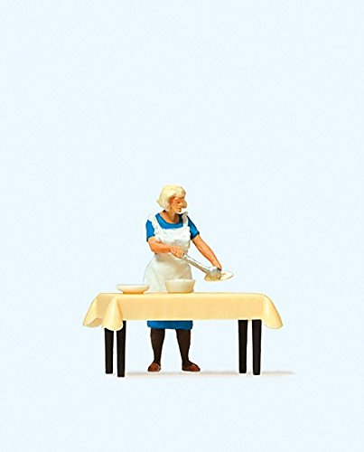 Preiser 28130 Individual Figure Housewife Serving Dinner at the Table HO Model Figure MODELS11 INC