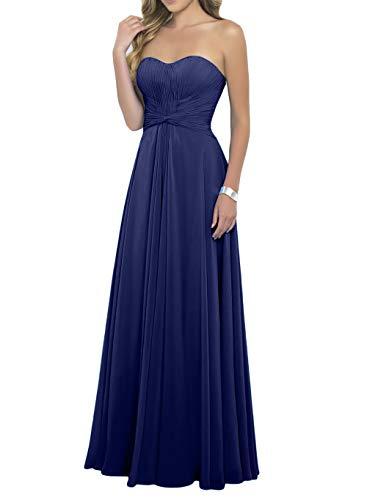 Dunkel Lang Elegant mia Promkleider Chiffon La Braut Royal Festlichkleider Linie Brautjungfernkleider Blau Partykleider Abendkleider A wq7t1FWF
