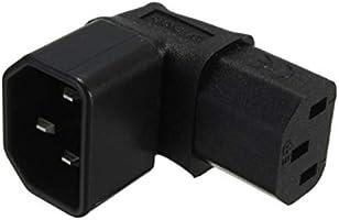 2 Pack Tekit IEC320 C14 C13 Power Adapter PDU//UPS Plug//Socket 90 Degree AC250V