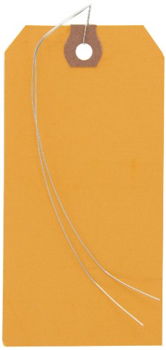 Shipping Tags Orange - Aviditi G11053H 13 Point Cardstock Pre Wired Shipping Tag, 4-3/4
