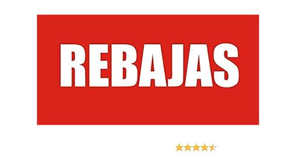 PEGAFACIL Vinilo Adhesivo de Rebajas | Pegatina Rebajas | Ofertas en escaparate | Pegatinas adhesivas Rebajas | Ofertas establecimiento Rebajas | ...