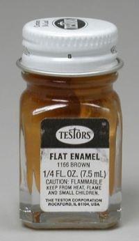 (Testors Enamel 1/4oz Bottle Flat Brown)