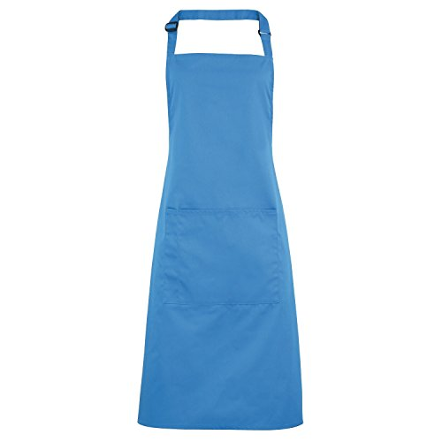 Premier Workwear Colours Bib Apron with Pocket, Top para Mujer Sapphire