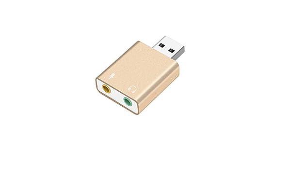 FinukGo Tarjeta de Sonido Externa USB Auricular Micrófono Jack ...