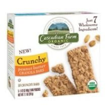 Cascadian Farm Organic Peanut Butter Crunchy Granola Bar, 7.1 Ounce -- 12 per case.