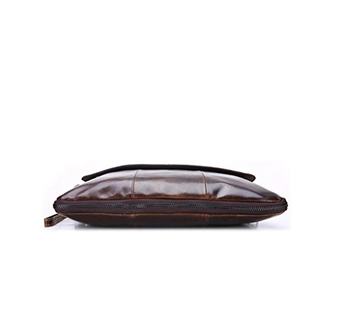 Resistentes y Bolso Hombro Mochila 2 32x2x26cm Piel Sucastle Hombre Bolsa Autentico Bolsos Bandolera de Pecho Bolsos de 1 Cuero Pequeña PwdvqxHvWa