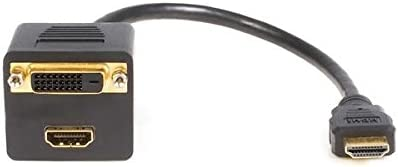 StarTech.com 1 ft. 2 Port HDMI Splitter Cable 0.3 m HDMI Splitter HDMISPL1DH HDMI to HDMI and DVI-D Adapter