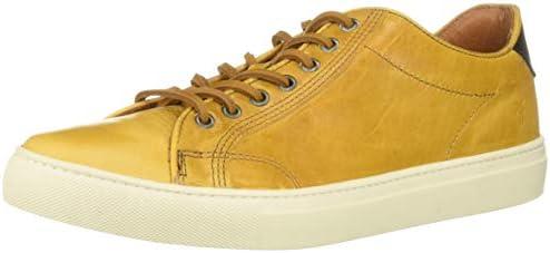FRYE Men's Walker Low Sneaker, Mustard