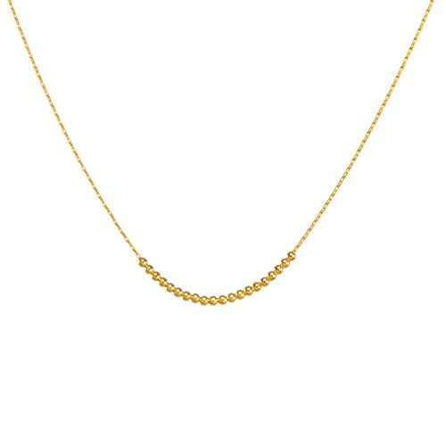 Dogeared Round Necklace - Dogeared Women's Your Daily Dose of Pretty Multi-Rounds Beads on Chain Gold Dipped One Size