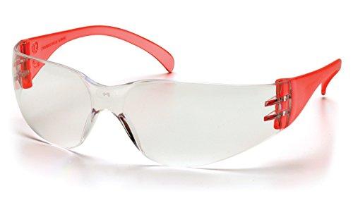 Pyramex Safety Intruder Eyewear, Red Temples, Clear (Intruder Sunglasses)
