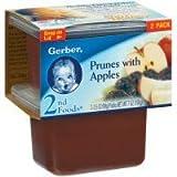 gerber baby food case of 8 - Gerber 2nd Foods Prune and Apple, 7 Ounce -- 8 per case.