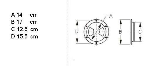 "MARINE BOAT KAYAK WHITE PLASTIC DECK PLATE 4/""D WATERPROOF INSPECTION BAYONET"