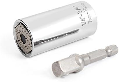MinYuocom Llaves de Vaso 7mm-19mm Métricas Llave inglesa Taladro Eléctrico Adaptador MZD0502S